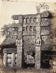 Front view of eastern torana or gateway, Sanchi Tope